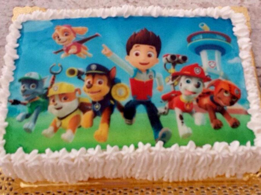 tarta infantil decorada con la Patrulla Canina